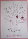 Gästbokstavla, träd